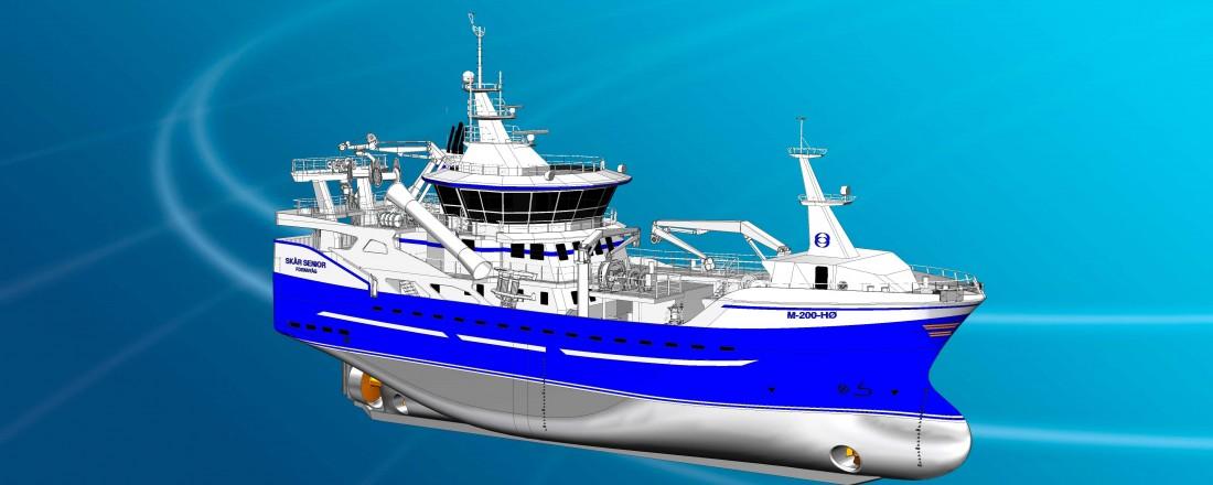 Marin Teknikk har design på nybygget fra Stadyard til Skår-rederiet. Ill: Marin Teknikk