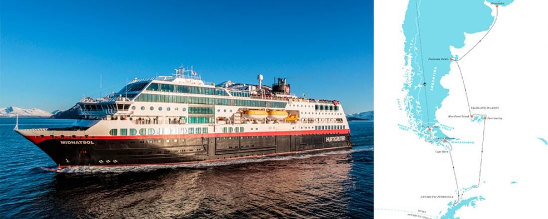 Hurtigruten dobler kapasiteten i Antarktis når Midtnatsol settes inn i sesongen 2016/2017.