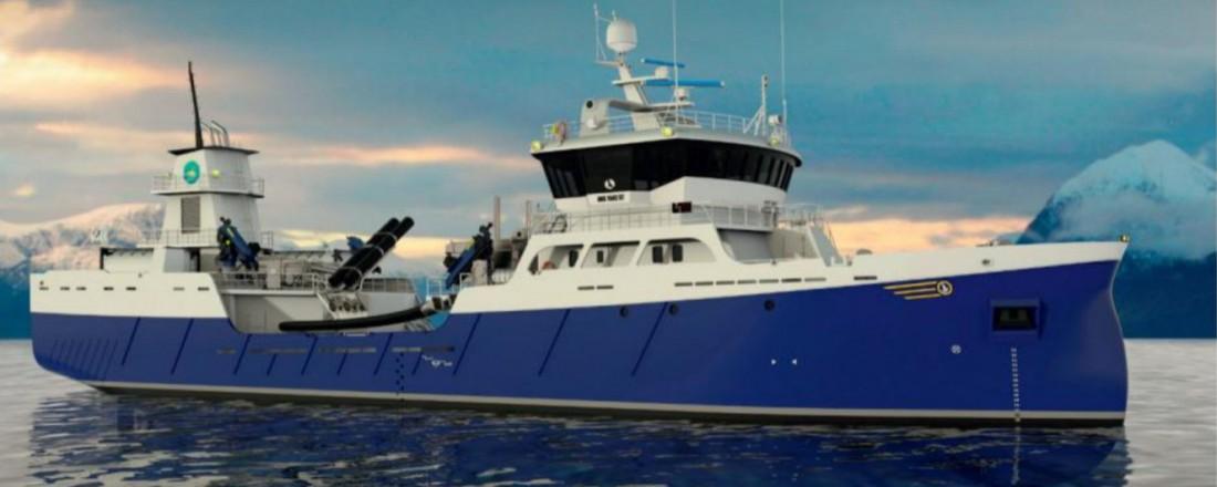 Slik blir brønnbåten som Aas Mek. Verksted nå skal bygge for skotske Migdale Transport. Illustrasjon: Aas Mek. Verksted