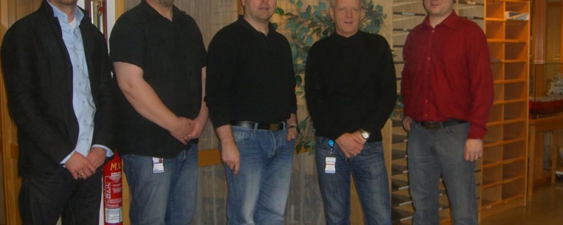 Børge Gjelseth, Jan Frågodt, Roger Paul Hauge, Terje Gjelseth og Håvard Gjelseth