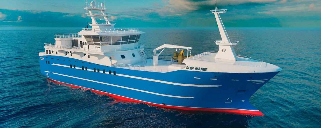 Marin Teknikk skal designe et nytt fiskefartøy for en russisk kunde. Ill: Marin Teknikk