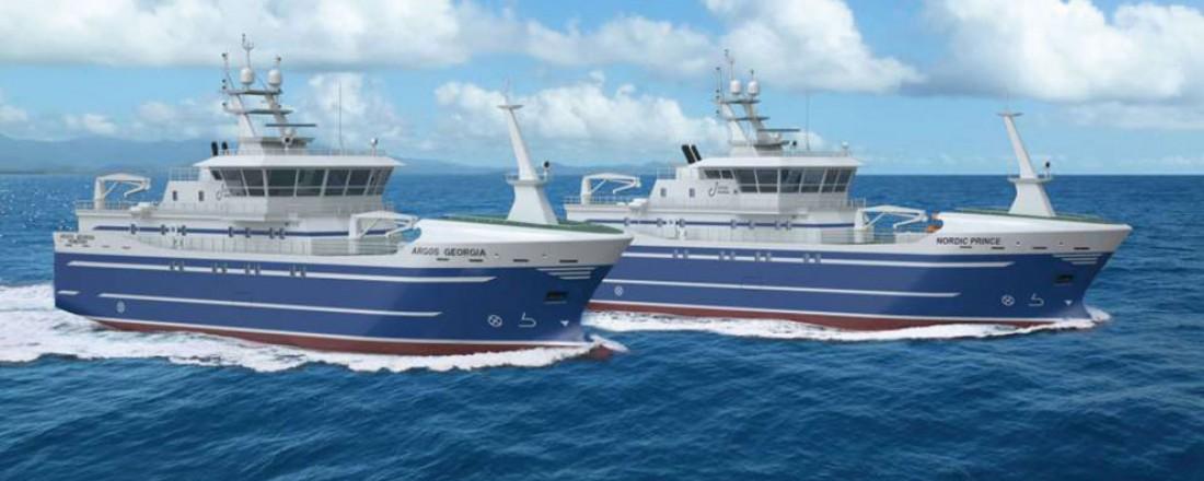 De nye linebåtene har design MT112. Illustrasjon: Marin Teknikk