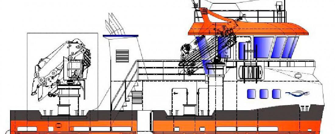 Tegning av nybygget som Moen Marin skal levere sommeren 2018. Illustrasjon: Moen Marin