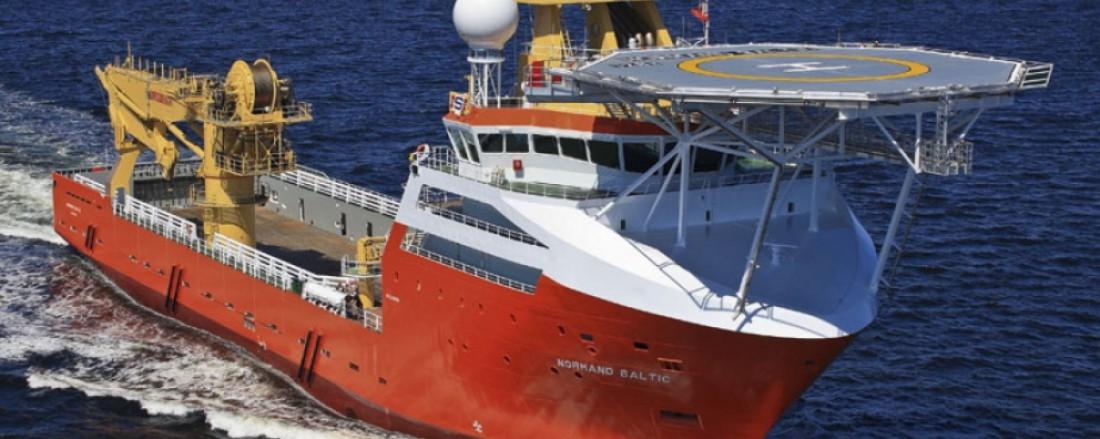 Normand Baltic har fått oppdrag i Taiwan. Foto: Solstad Offshore.