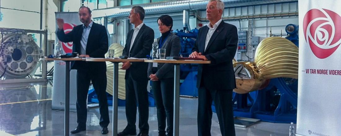 Trond Giske, Jens Stoltenberg, Else May Botten og Sigbjørn Johnsen