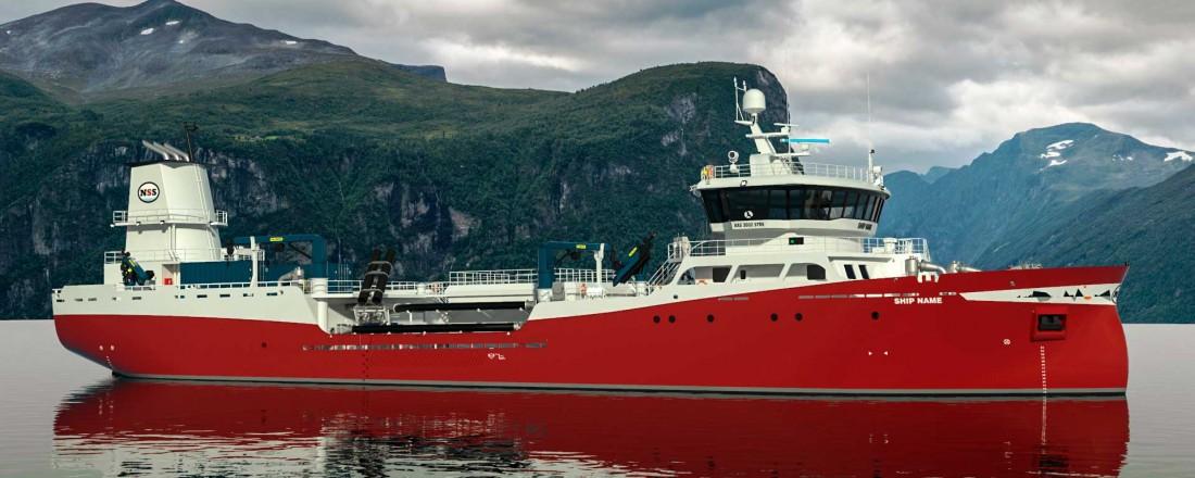 Aas Mek. bygger ny brønnbåt til Nova Sea. Illustrasjon: Aas Mek. Verksted