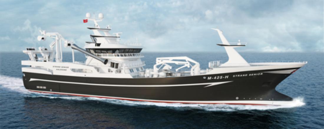 Karstensens Skibsværft skal bygge for Strand Havfiske. Illustrasjon: Karstensens
