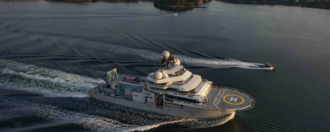 Palfinger was selected as one of the major deck equipment suppliers for the world's most advanced research vessel, OceanXplorer. Photo: OceanX