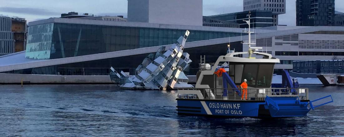 Oslo får nullslipps havnebåt på slutten av året. Illustrasjon: Grovfjord Mek. Verksted/Odd Gøran Bolsøy