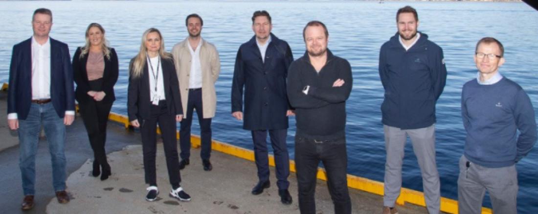 Disse utgjør arrangørkomiteen for konferansen. Fra venstre   Arve Dimmen, Robin Halsebakk, Jon Rune Nygård, Monica Sperre, Marte Giskeødegård, Stig Gjethammer og Bjørn Inge Furuli.   Foto: Rederikonferansen 21