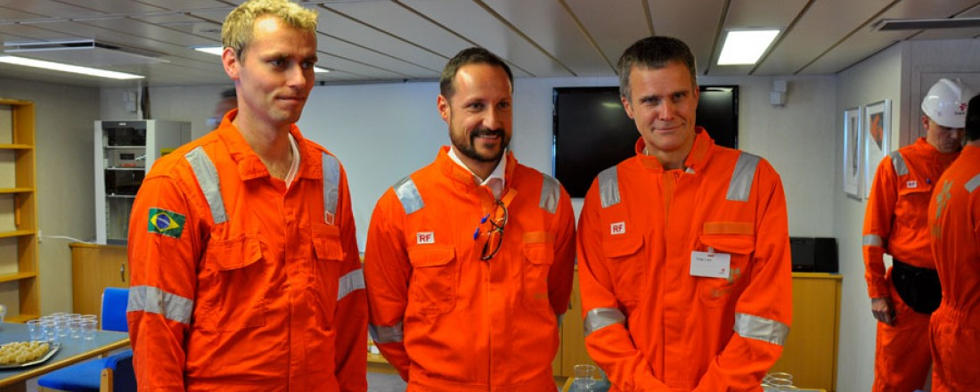 Ola Borten Moe, kronprins Haakon og Helge Lund