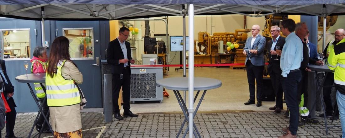Fra åpningen av Pon Powers nye testsenter. Foto. Pon Power.