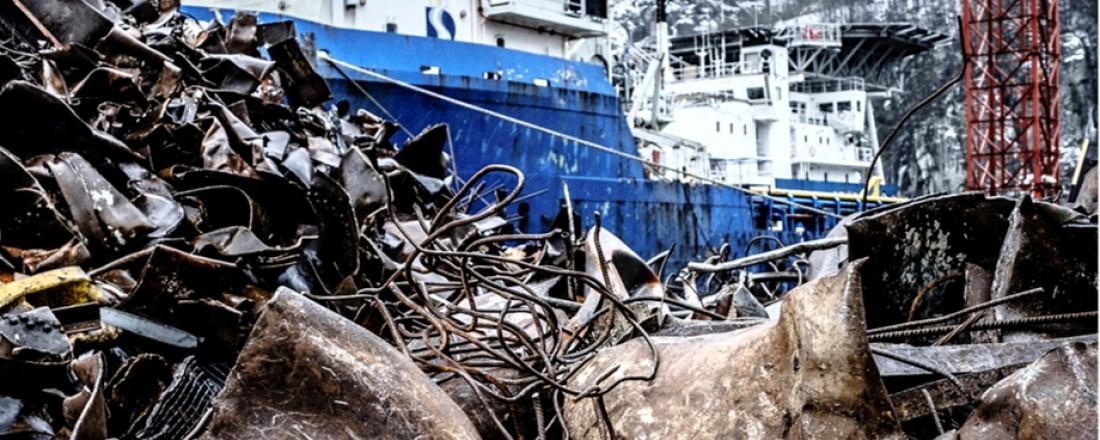 I dag ligger omkring 50 offshoreskip i opplag langs kysten vår. Maritimt Forum foreslår nå en resirkuleringsordning for disse. Illustrasjon fra Maritimt Forums presentasjon.
