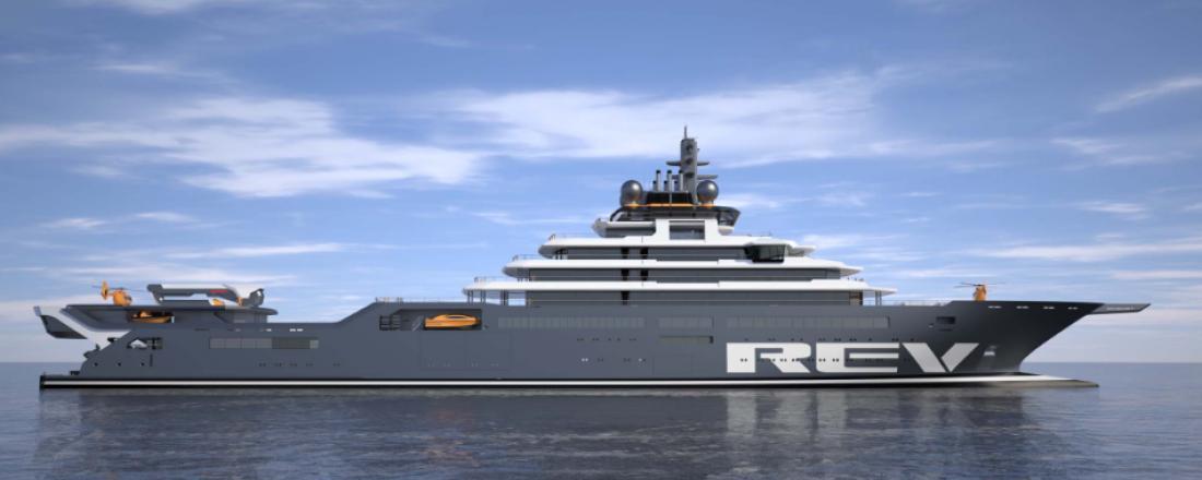 Det avanserte forskningsskipet REV er under bygging, og skal leveres i løpet av 2021. Foto: ReV Ocean.