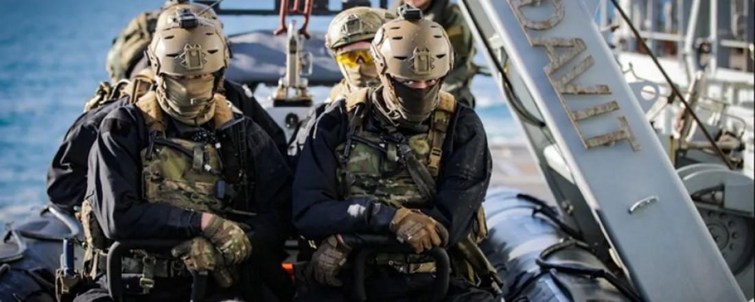 Royal Marines from HMS Tamar, Credit Royal Navy