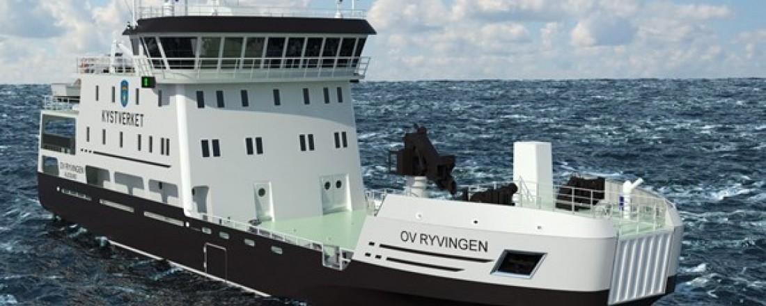 Ryvingen. Illustrasjon: Heimli Ship Design/Fitjar Mek. Verksted/Kystverket