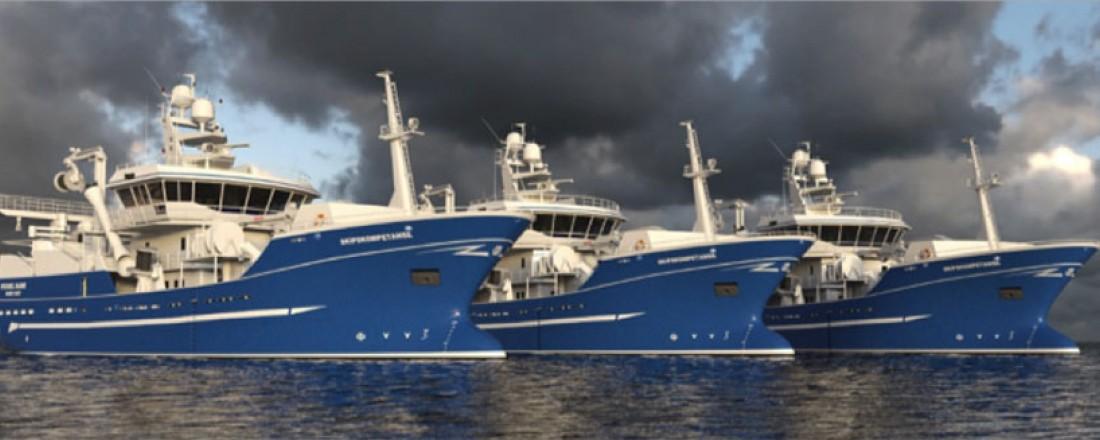 Snurper/ tråler av Skipskompetanse SK-3101R design til rederiet Lenin Kolkoz for bygging ved Yantar Shipyard.