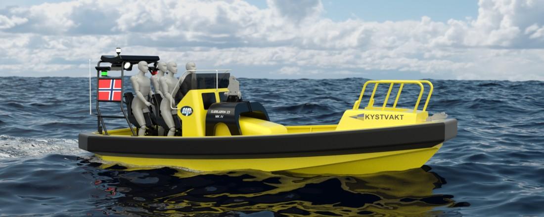 Maritime Partner skal levere syv båter av denne typen til Sjøforsvaret. Illustrasjon: Maritime Partner.