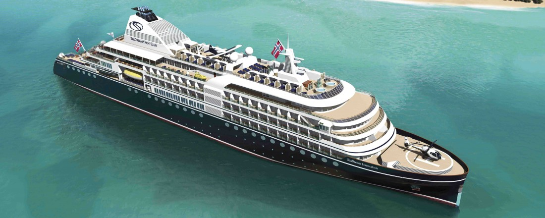 SeaDream har nå kansellert avtalen med Damen om bygging av et nytt luksusskip. Illustrasjon: SeaDream