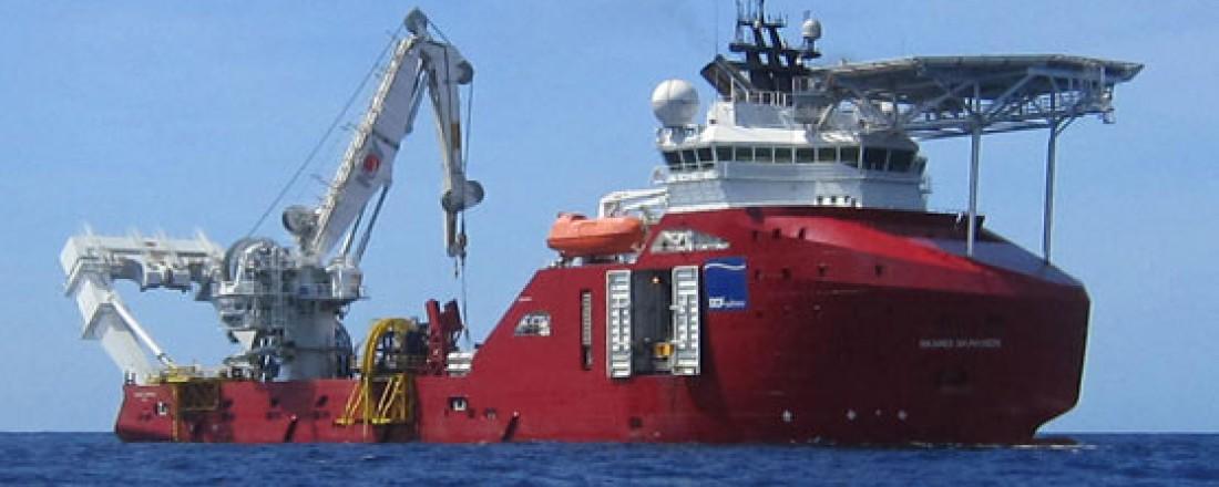DOF Subsea med kontakt for Skandi Skansen. Foto: DOF