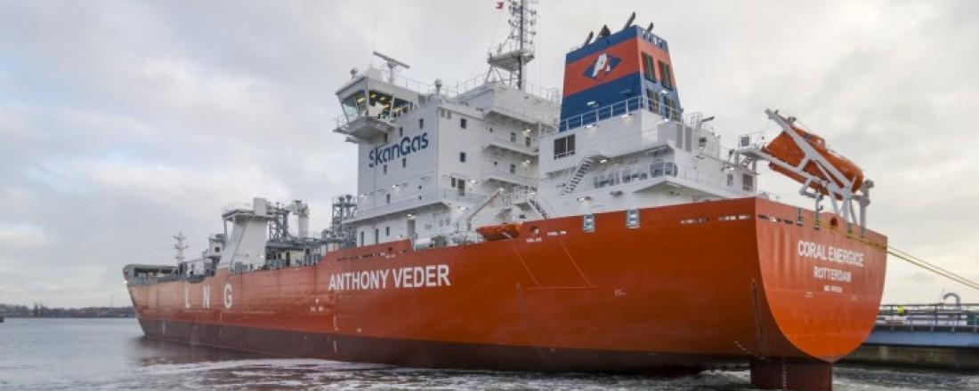 Coral EnergICE ble overlevert fra Neptun Werft i Rostock i slutten av januar. Foto: Neptun Werft, Rostock