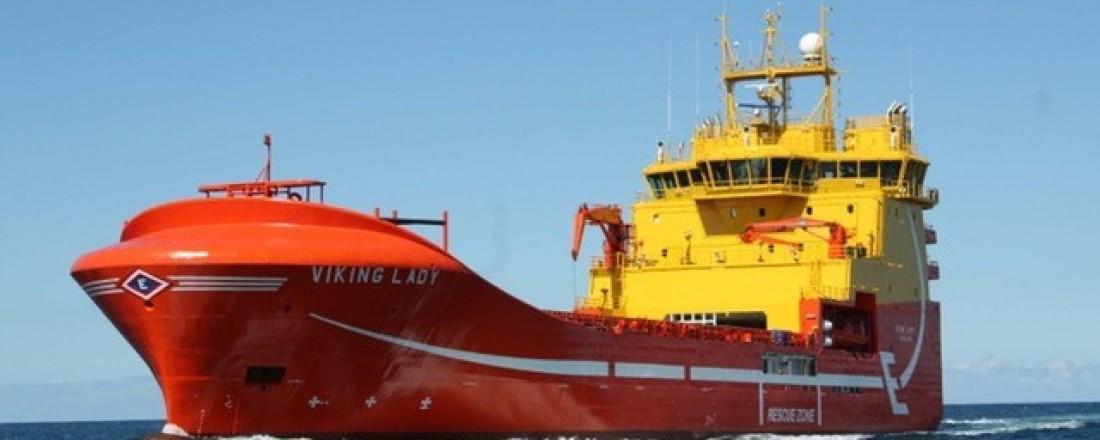 Viking Lady er et av Eidesvik-skipene som for tiden er i operasjon for Aker BP. Foto: Eidesvik.