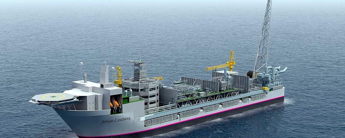 Slik er tegningen av produksjonsskipet for Johan Castberg-feltet. Illustrasjon: Statoil