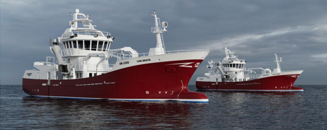 Brunvoll Volda skal levere fremdriftssystem på to fartøy som er designet av Skipskompentanse og bygges av Stadyard. Illustrasjon: Skipskompetanse