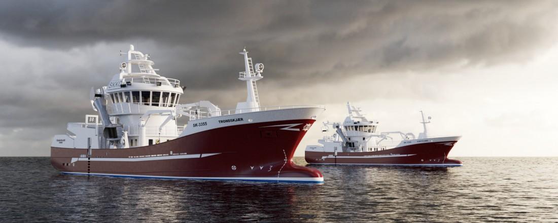 Skipskompetanse AS har designet de to Enova-støttede fartøyene som bygges hos Stadyard. Illustrasjon: Skipskompetanse