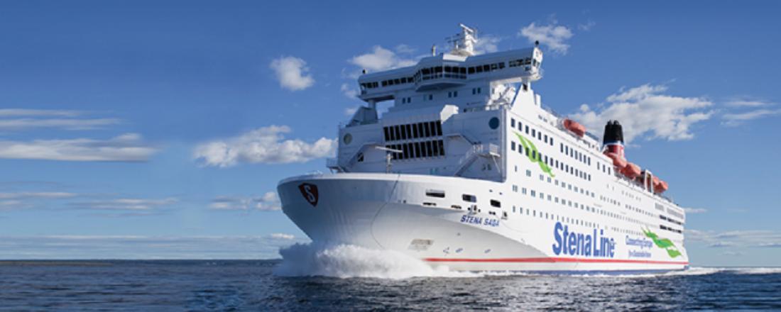 Stena Saga er foreløpig lagt i opplag i Gøteborg etter at ruten mellom Oslo og Fredrikshavn er avviklet. Foto: Stena Line