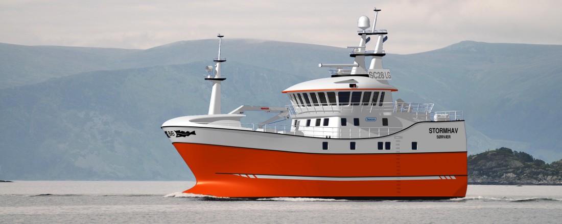 Stormhav designes av Seacon, og bygges av Stadyard. Arbeidstegning: Seacon