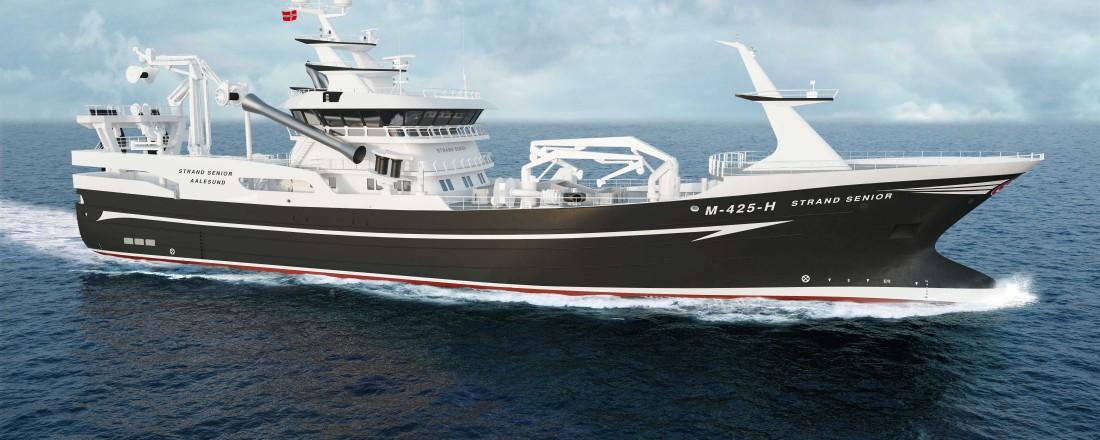 Det danske verftet Karstensens skal bygge den nye Strand Senior til Strand-rederiet. Illustrasjon: Karstensens Skibsværft