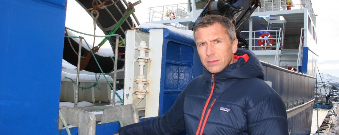 AquaShip vokser stadig og administrerende direktør Sverre Taknes har nå fått to nye brønnbåter i flåten. Foto: Frode Rabbevåg