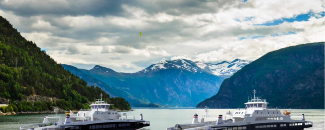 Slik blir de to nye ferjene til Fjord1 som skal bygges i Tyrkia for å trafikkere to strekninger i Storfjorden på Sunnmøre. Illustrasjon: HAV Design