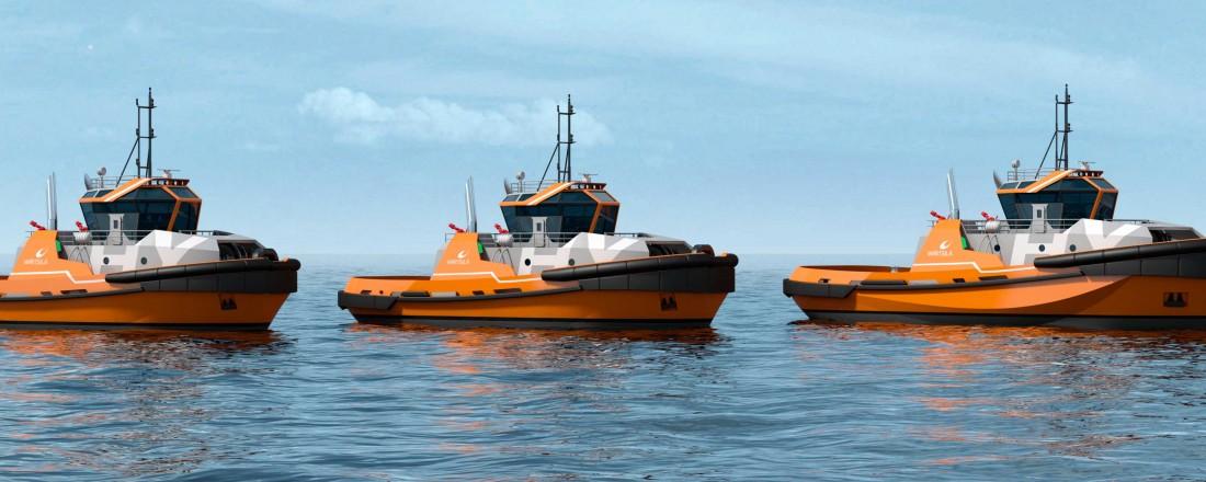 Wärtsilä har lagt vekt på miljømessig bærekraft i utviklingen av den nye slepebåtserien Wärtsilä HYTug. Illustrasjon: Wärtsilä