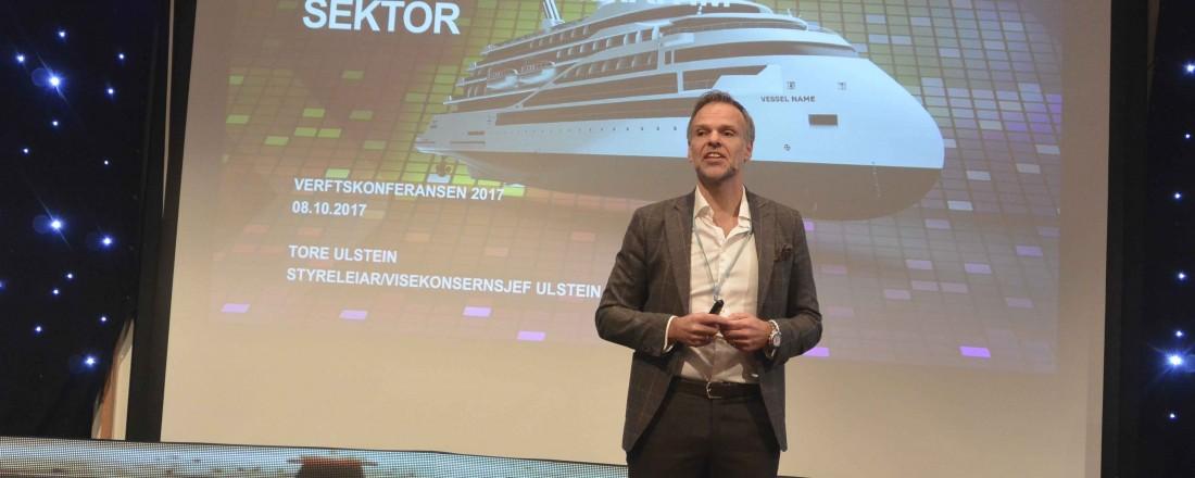 Tore Ulstein delte sine erfaringer med omstilling i den marine sektoren med Verftskonferansen. Foto: John Inge Vikan