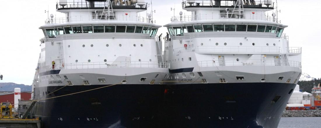 De to fartøyene på bildet er ikke blant de som skal i vinteropplag. Arkivfoto: Island Offshore