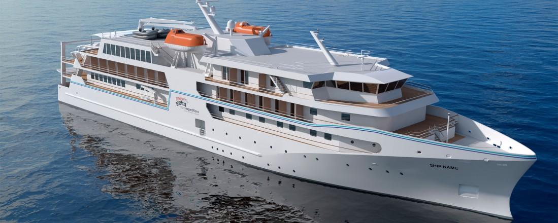 Det nye skipet får design type VARD 6 01. Illustrasjon: Vard Design