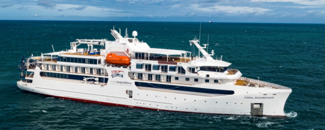Coral Geographer has been specially tailored for personalized expedition cruises to remote and exotic destinations in Asia and Oceania. Photo: Vard.