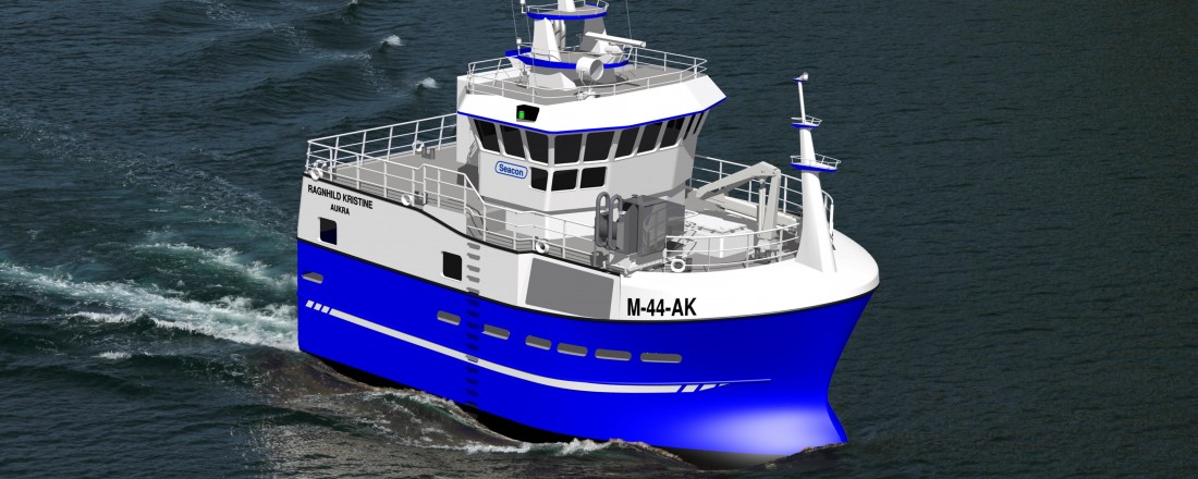 Fiskefartøy til Orten Fiskeriselskap med Seacon-design. Ill: Seacon
