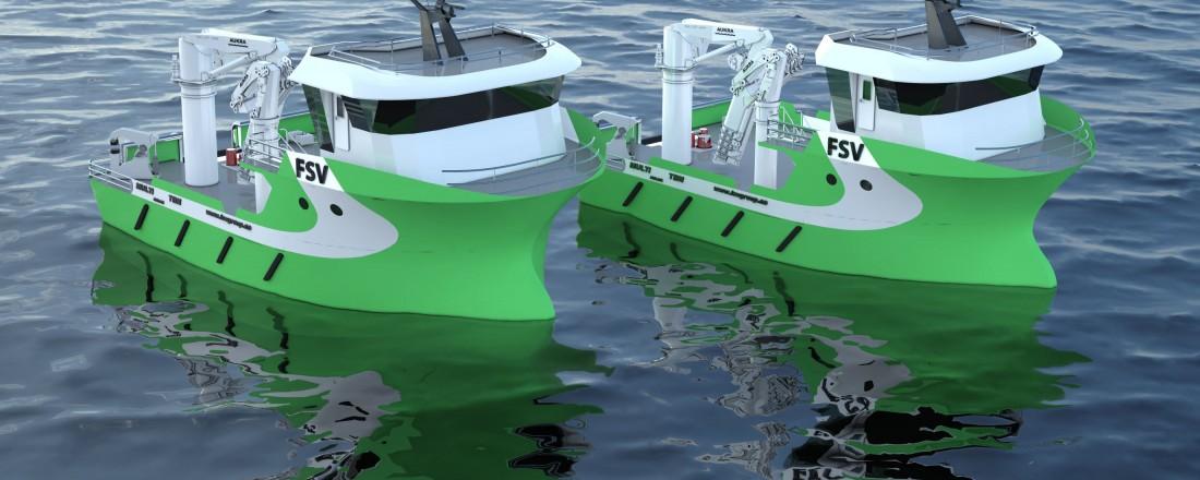 Fartøyene er designet av Solstrand Trading.