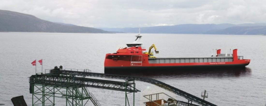 Mange vil bygge og drifte skip for Veidekke. Illustrasjon: Naval Dymanics AS