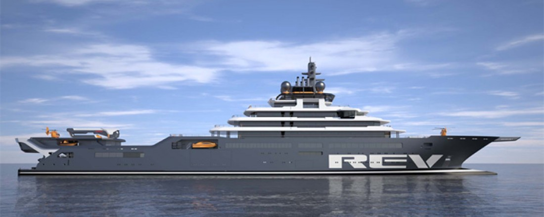 Kjell Inge Røkke gir solid bidrag til bygging av verdens største forskningsfartøy. Illustrasjon: Rev Ocean.