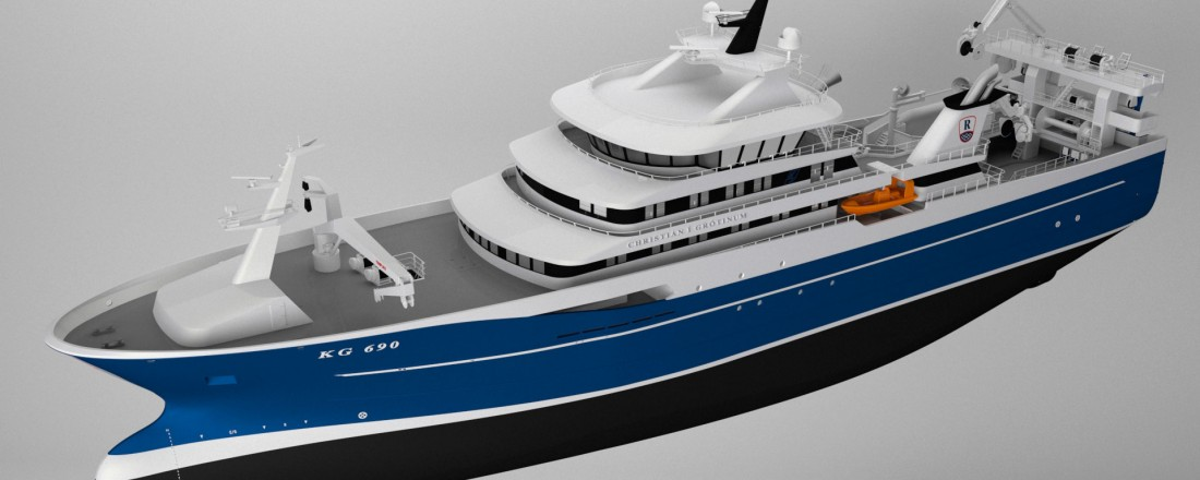 The new pelagic purser/trawler will be the largest fishing vessel yet built by Karstensens Shipyard.