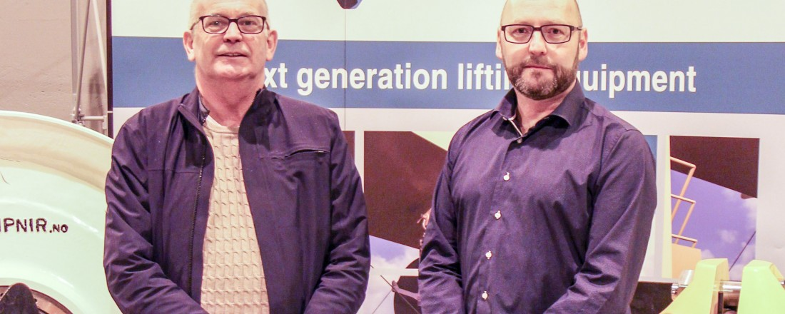 Administrerende direktør i Westcon Løfteteknikk, Karl Johan Jentoft,  og administrerende direktør i Gleipnir, Jon Arne Valen. Foto: WCL