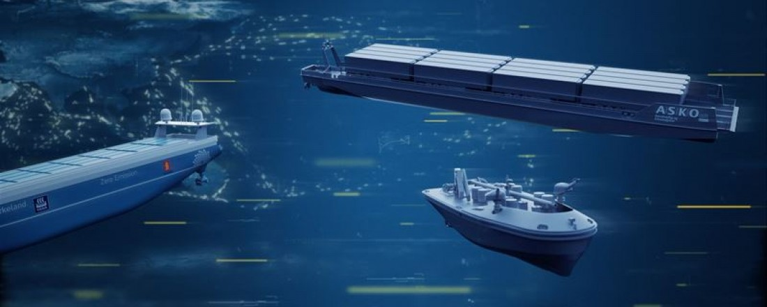 Det nye selskapet Massterly tar neste steg i utviklingen ved å etablere infrastruktur og tjenestetilbud for å utvikle og drifte autonome fartøy. Illustrasjon: Kongsberg