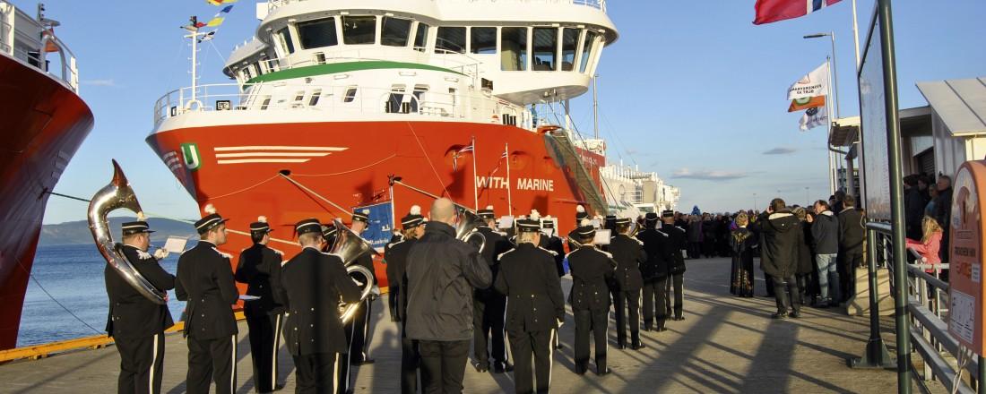 With Marine (og søsterskipet With Harvester) er topp moderne fartøy. Her fra overleveringen med stor festivas i Trondheim i 2014. Foto: John Inge Vikan