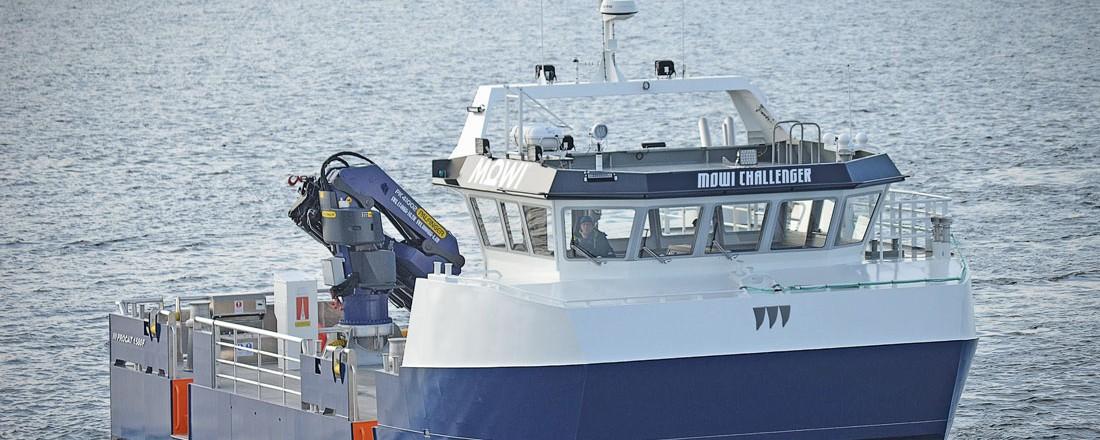 Søsterfartøyet Mowi Challenger levert i april. Foto: Promek