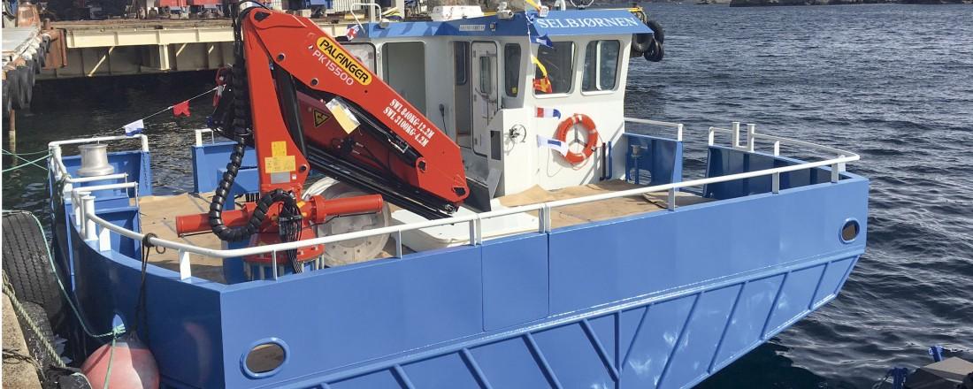 Bildet viser søsterfartøyet Selbjørnen, som ble levert i april 2018. Foto: Havbrukspartner