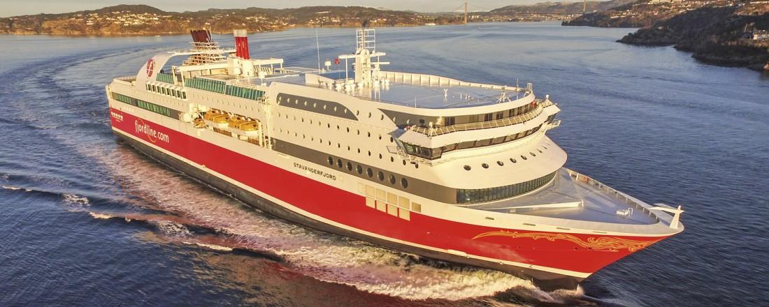 Bildet viser søsterskipet Stavangerfjord som var ferdig ombygd i desember 2017. Foto: Erik Ask/Bergenships.com